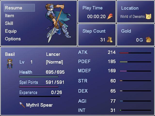 RPG Maker XP Custom Menu Scripts | Game Dev Unlimited