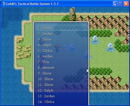 GTBS - GubiD's Tactical Battle System - RPG Maker XP - Custom Battle