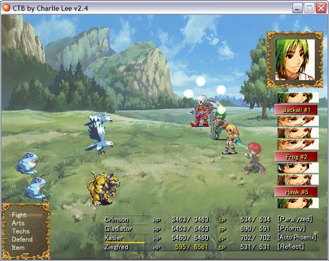 CTB - A Final Fantasy X-like Battle System - RPG Maker XP - Custom