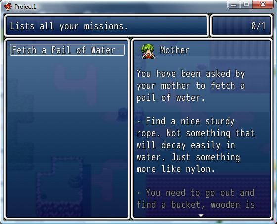 Rpg Maker Vx Ace Script: Quest/Mission Menu