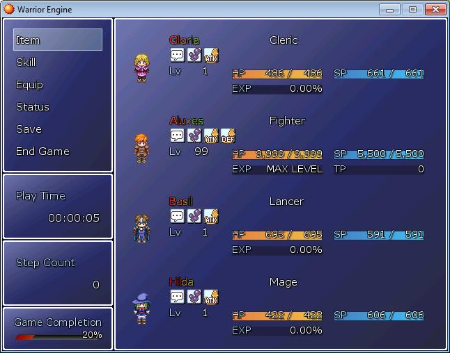 Warrior Core Engine Xp: RPG Maker XP Scripts