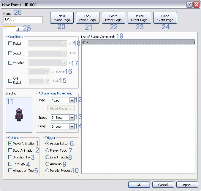 Everything you need to know about the Event Editor - RPG Maker XP