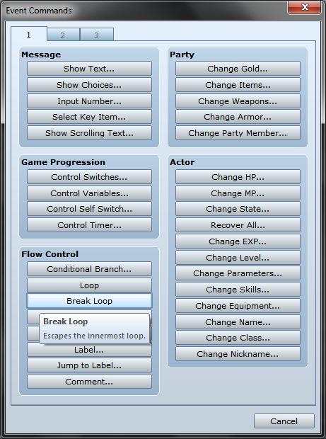 Waiting until Button Input - RPG Maker VX Ace | Game Dev Unlimited
